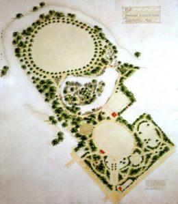 Early plan of Queen Elizabeth Park