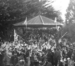 Celebrations to mark the end of World War One at Queen Elizabeth Park.