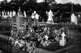 Early photo of the Masterton cemetery