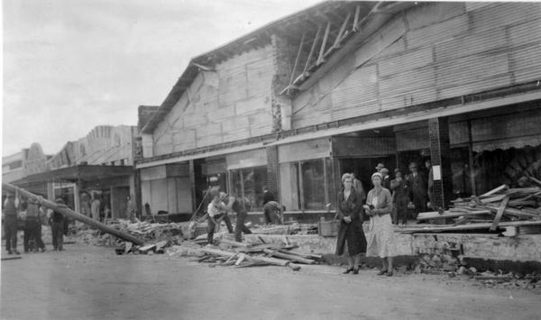 WFCA in Pahiatua, following the 1934 earthquake.