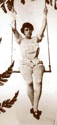 The captivating American aerialist Leila Adair.