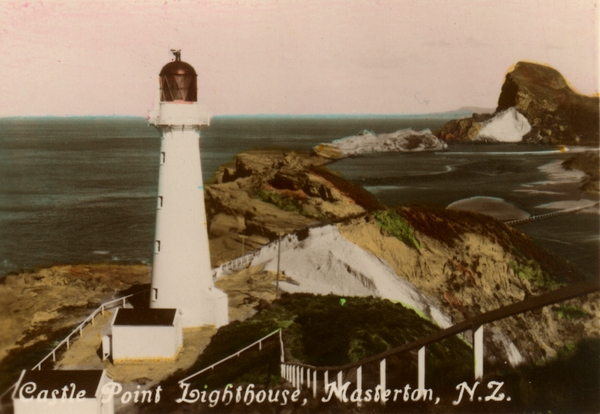 Early postcard of the Castlepoint lighthouse.