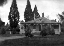 The Coronation Hall in Masterton park, opened in 1912