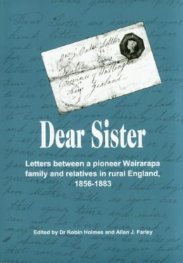 Cover of book 'Dear Sister', Jane Oates' letters to her family in Derbyshire in the 1800s.