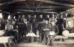 A group of men who trained at the Featherston Military Training Camp.
