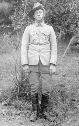 John Duckett, a Wairarapa farm boy who served in the South African War.