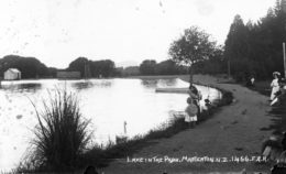 The Masterton Park lake was officially opened in 1908