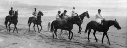 Horse riders on the beach for the Castlepoint Race.