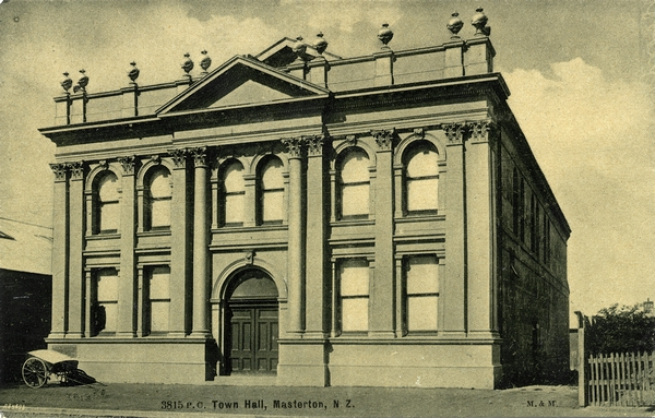 Masterton's second Town Hall was built in 1897.