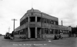 The Wairarapa Times-Age building shortly after construction in 1938