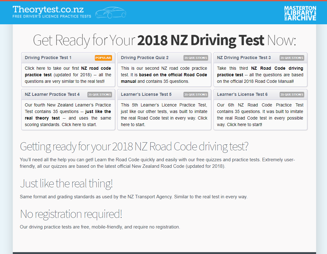 Learn to Drive | Masterton District Library